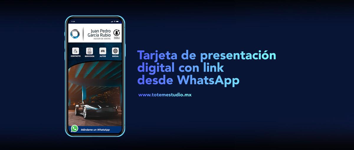 Tótem Estudio tarjeta de presentación digital